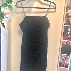 Black Velvet Cheetah dress
